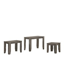 Alexa Rustic 3-Piece Nesting Table