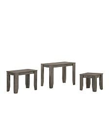 Alexa Rustic 3-Piece Nesting Table