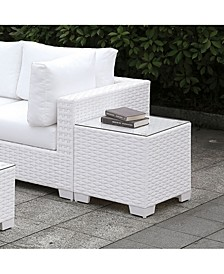 Arthur Tempered Glass Top Outdoor End Table