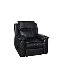 Corone Transitional Leatherette Recliner