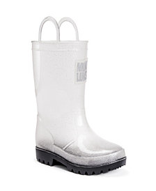 Muk Luks Girl's Clear Molly Rainboots with 5-Pk Socks