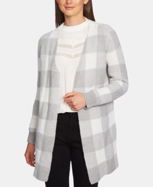Image of 1.state Checked Jacquard Open-Front Cardigan