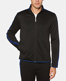 Perry Ellis Men's Regular-Fit Logo Tape Track Jacket