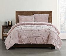 Truly Soft Everyday Pleated Velvet King Comforter Set