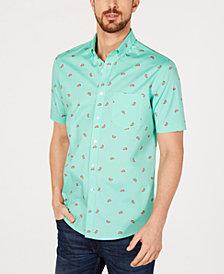 Club Room Men's Watermelon Print Short-Sleeve Shirt, Created for Macy's