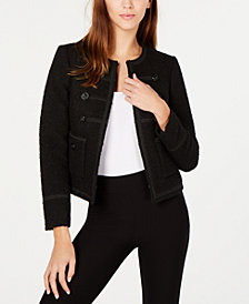 Anne Klein Boucle Military Jacket