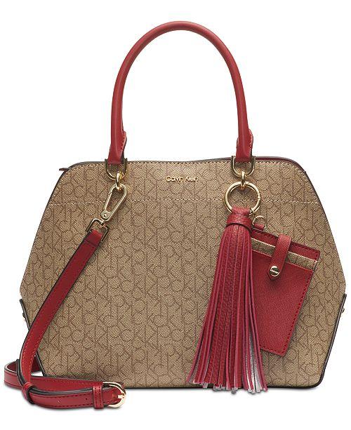 wholesale sales hot-selling discount meet Calvin Klein Susan Signature Satchel & Reviews - Handbags ...
