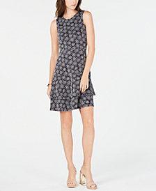 MICHAEL Michael Kors Printed Tiered Dress, In Regular & Petite Sizes