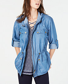 MICHAEL Michael Kors Denim Utility Jacket