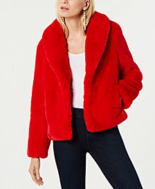 I.N.C. Petite Faux-Fur Coat, Created for Macy's