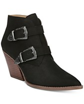 3fa7d4313 Franco Sarto Granton Block-Heel Pointed-Toe Ankle Booties