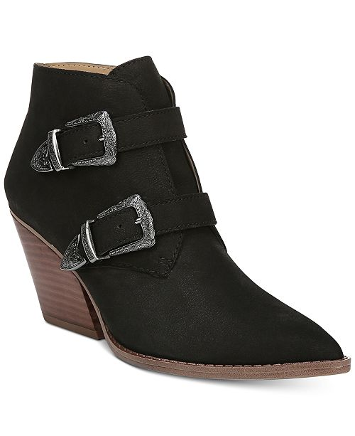 Franco Sarto Granton Block-Heel Pointed-Toe Ankle Booties