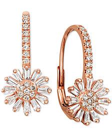 Le Vian® Nude™ and Vanilla™ Diamond Flower Drop Earrings (7/8 ct. t.w.) in 14k Rose Gold