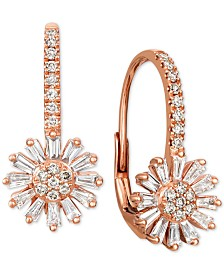 Le Vian® Nude™ and Vanilla™ Diamond Flower Drop Earrings (7/8 ct. t.w.) in 14k Rose Gold