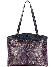 Patricia Nash Kimono Tapestry Metallic Poppy Tote