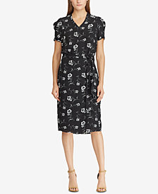 Lauren Ralph Lauren Belted Crepe Shirtdress