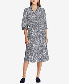 Lauren Ralph Lauren Printed Crepe Shirtdress