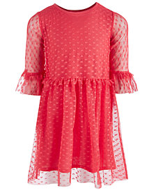 Epic Threads Little Girls Heart-Mesh Dress, Created for Macy's