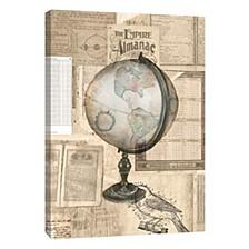Globe Illustration Decorative Canvas Wall Art