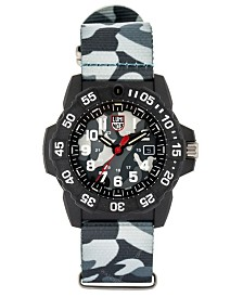 Luminox Men's 3507.ph Navy Seal Carbon Camo Nylon Strap Watch