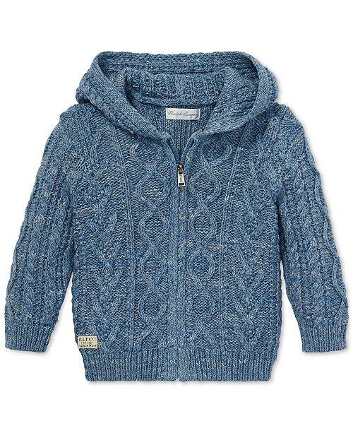 aa220cbd9f Polo Ralph Lauren Baby Boys Aran-Knit Cotton Hooded Sweater ...