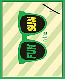 """MinxNY BeachTech 3-Pack Lightweight Compact 32"""" x 64"""" Towels With Water Resistant Pocket   Fun In The Sun Green, Keep Calm Yellow, Good Vibes Yellow"""