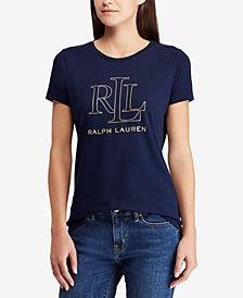 Lauren Ralph Lauren Petite Foil-Logo T-Shirt