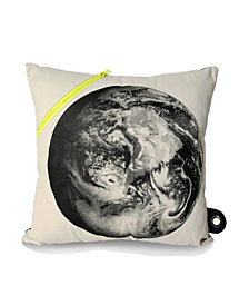 Mimish Scientist Small Square Storage Throw Pillow with Saturn Print