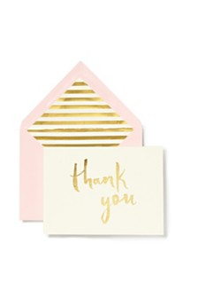 Kate Spade New York Note Card Set, Thank You Blush With Gold