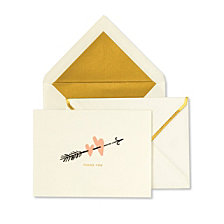 Kate Spade New York Bridal Thank You Card, Two Hearts