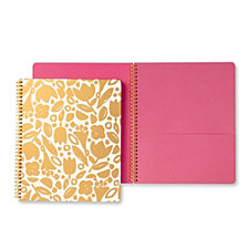 Kate Spade New York Large Spiral Notebook, Golden Floral