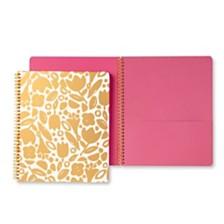 Kate Spade New York Large Spiral Notebook, Golden Floral