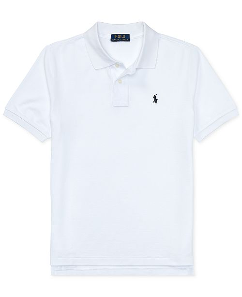 acf7bc660 Polo Ralph Lauren Big Boys Pique Polo & Reviews - Shirts & Tees ...