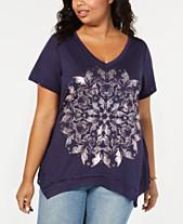 d914031c7b2bc Style   Co Plus Size Graphic T-Shirt