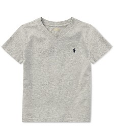 Polo Ralph Lauren Toddler Boys Cotton Jersey V-Neck T-Shirt