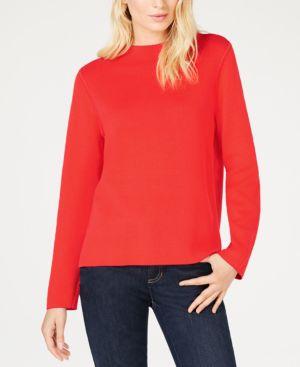 Organic Cotton Scoop-Neck Sweater, Regular & Petite in Lacquer