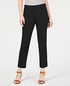 Style & Co Petite Cropped Straight-Leg Pants, Created for Macy's