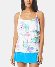 Coco Reef Ruffled Tankini Top & Swim Skirt