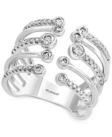 EFFY® Diamond Cuff Statement Ring (5/8 ct. t.w.) in 14k White Gold