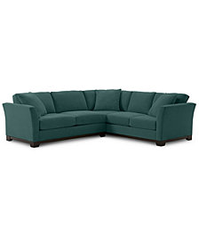 """Elliot II 108"""" Fabric 2-Pc. Apartment Sectional - Custom Colors, Created for Macy's"""