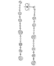 EFFY® Diamond Bezel Linear Drop Earrings (3/4 ct. t.w.) in 14k White Gold