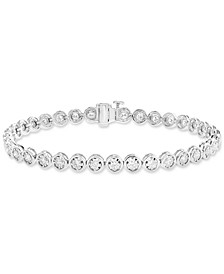 EFFY® Diamond Bezel Tennis Bracelet (1-9/10 ct. t.w.) in 14k White Gold
