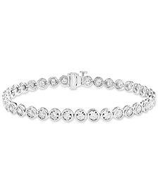EFFY® Diamond Bezel Tennis Bracelet (1-9/10 ct. t.w.) in 14k White Gold