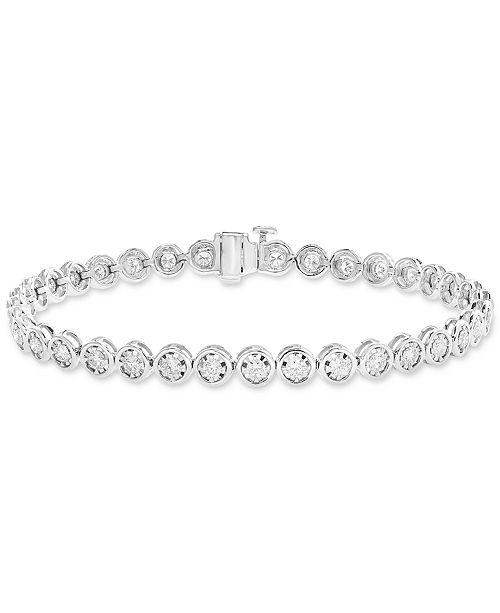 EFFY Collection EFFY® Diamond Bezel Tennis Bracelet (1-9/10 ct. t.w.) in 14k White Gold