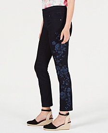 Style & Co Floral-Print Skinny Jeans, Created for Macy's