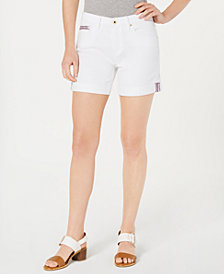 Tommy Hilfiger White Denim Shorts, Created for Macy's
