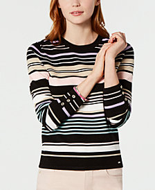 Tommy Hilfiger Multi-Stripe Sweater, Created for Macy's