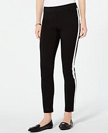 Tommy Hilfiger Tuxedo Stripe Ponté-Knit Pants, Created for Macy's