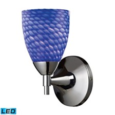 Celina 1-Light Sconce in Polished Chromw with Sapphire Glass - LED Offering Up To 800 Lumens (60 Watt Equivalent)