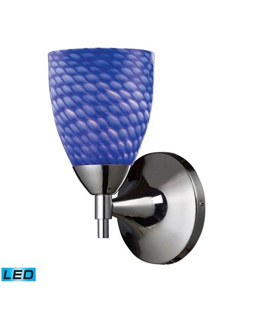ELK Lighting Celina 1-Light Sconce in Polished Chromw with Sapphire Glass - LED Offering Up To 800 Lumens (60 Watt Equivalent)